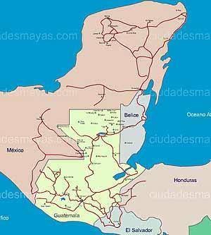 mapa ruta maya